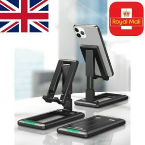 NEW Universal Adjustable Mobile Phone Holder Stand Desktop Foldable Portable UK