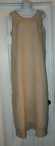 FLAX by Jeanne Engelhart Sleeveless Linen Midi/Maxi Dress Size Medium
