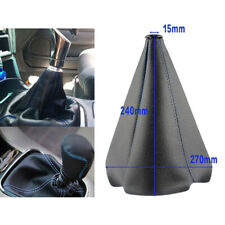 Universal Blue Stitch Black PVC Leather Manual / Auto Shifter Shift Boot Cover
