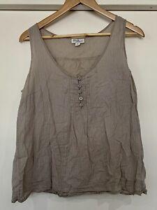 Millers Ladies Top Beige stripe Size 16