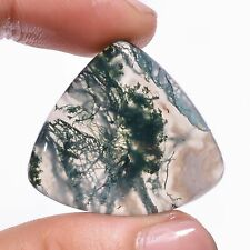 36.8 Ct 100% Natural Moss Agate Heart Cabochon Loose Gemstone 28X31X5 mm HB-2723