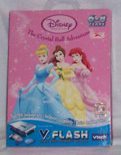 V TECH FLASH DISC DISNEY PRINCESS THE CRYSTAL BALL ADVENTURE CINDERELLA NEW
