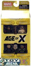 Marvel Minimates Age of X Gambit Magneto Basilisk Legacy 4 Pack X-Men Set