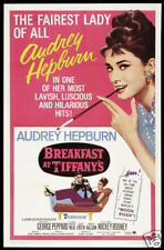 Breakfast at Tiffany's Audrey Hepburn movie poster print