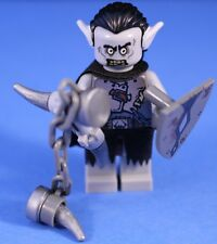 LEGO® THE HOBBIT™ GRAY / PALE ORC WARRIOR Custom Minifigure + Gray POINTED EARS