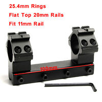 Daul 25.4mm Ring 11mm Dovetail Rail Scope Mount Top 20mm weaver Rail for rifle