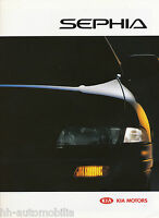 Kia Sephia Prospekt 9/94 brochure 1994 Autoprospekt Broschüre prospetto catalog