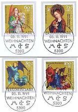 BRD 1991: Weihnachten Nr. 1578-1581 mit den Bonner Ersttags-Sonderstempeln! 1602