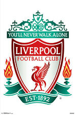 LIVERPOOL FC Official Reds EPL Premier League Team Crest Logo Wall POSTER