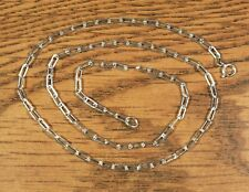 """18"""" Solid Sterling Silver Flat Cable 2.6mm x 6mm links not plated USA"""