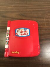 Wubbulous Dr Seuss 1997 See 'N Say Rhyme Maker Cat in The Hat Toy - SEE VIDEO!