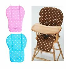 Pink Blue Polka Dot Cushion Pad Mat Seat Liner Cover For Ikea High Chairs Baby