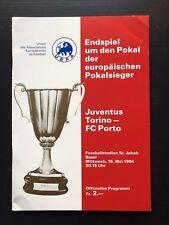 JUUVENTUS v FC PORTO UEFA Cup Winners Cup Final 1984