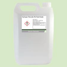 Peróxido de hidrógeno 6% de alimentos grado 5 litros (5 L) H2O2