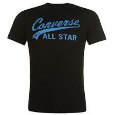 Converse All Star 08 Tshirt Tee Mens Short Sleeves Black Sig Logo UK Size S