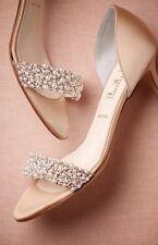 BHLDN Oyster Bed dOrsay Heels Pearl Wedding SOMETHING BLEU Size 38 US 8 $310