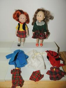 Vintage Eden Madeline Doll lot of two & Clothes Accessories