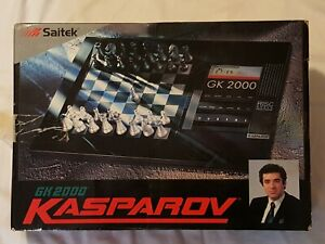 Saitek Kasparov GK 2000 Electronic Chess Board Game 1992 set gk2000 - LK NW READ