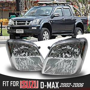 CLEAR HEADLIGHT LAMP FIT FOR ISUZU HOLDEN RODEO DMAX D-MAX BLADE 2002-2006