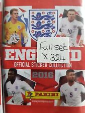 ENGLAND 2016 FULL SET OF STICKERS X324