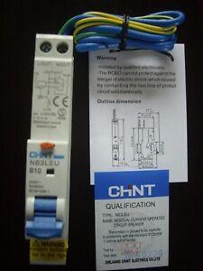 CHINT RCBO CIRCUIT BREAKER NB3LEU 1P+N B10 240V 30mA