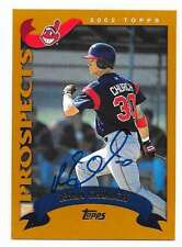 RYAN CHURCH 2002 TOPPS TRADED AUTOGRAPHED SIGNED # T243 INDIANS