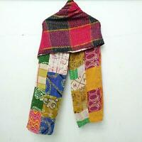 Cotton Kantha Scarf Neck Wrap Stole veil Hijab Scarves Reversible Sew Long SU85