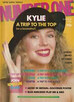 NUMBER ONE MAGAZINE KYLIE 5 STAR S-EXPRESS VOICE OF THE BEEHIVE AUGUST 1988