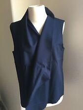 Lauren Ralph Lauren Active Quilted Womens Open Front Draped Vest Jacket Navy M