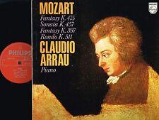 MOZART Fantasy SONATA Rondo VINYL LP Claudio Arrau PHILIPS 1975 UK 6500 782 @N/M