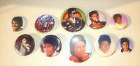 "10 Vintage 1980's ""Michael Jackson"" Concert Pin Button Pinback Badge"