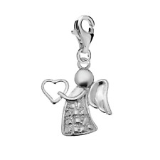 FASHIONS FOREVER® 925 Sterling Silver Angel Fairy Clip-On Charm, Handmade In UK