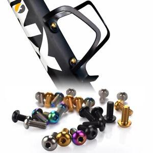 2pcs//box Titanium Alloy Bike M5x12Water Bottle Cage Fixing Bolt Air Pump Holder.