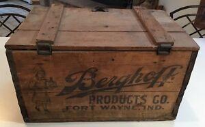 Prohibition Berghoff Beer Wood Crate Fort Wayne IN Bergo Waitress Advertising