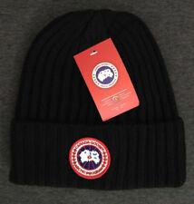 New Canada Goose Beanie Hat Unisex Cap Black Medium