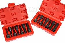 14pc Hex Driver Long Impact Socket Set - 3/8-inch Drive - Metric & Sae