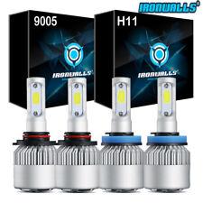 4 x 9005 + H11 Total 2600W 6000K Combo COB LED Headlight Kit Hi&Low Light Bulbs