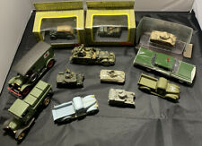 Assorted Lot of 12 Military Vehicles, Corgi, & Other Brands - See DescriptIon