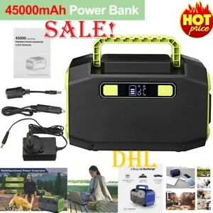 Portable 300W 45000mAh Outdoor Solar Generators Power Bank Station AC Outlets