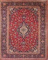 Persian Traditional Floral Hand-Knotted One-of-a-Kind Oriental Area Rug 8 x 11
