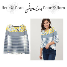 Joules | Harbour Print | Womens Long Sleeved Jersey Top | CRMBLUFLR| RRP £29.95