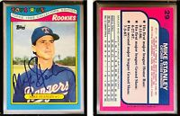 Mike Stanley Signed 1988 Toys'R'Us Rookies #29 Card Texas Rangers Auto Autograph