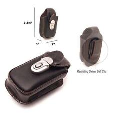 BELT CLIP CELL PHONE COFFEE LEATHER HOLSTER POUCH CASE