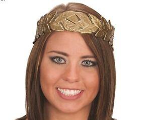 Laurel Leaf Headband Crown Costume Accessory Toga Party Greek Roman God Gold NEW