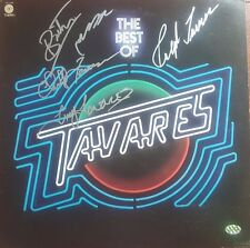 """Tavares"" Group Signed Album Cover PAAS COA"