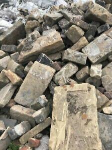 Large amount Random yorkstone walling stone.