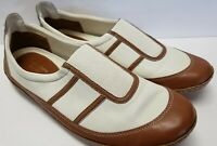 Nike Air Women's Shoes Ivory & Brown Patent Slip On Size 8.5
