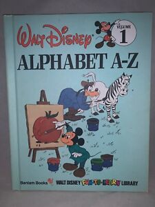 1983 Walt Disney Alphabet A-Z Volume 1 Fun To Learn Library Book