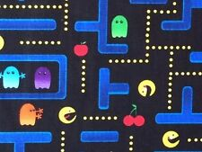 RPFTT55E Retro Arcade Video Game Japanese Style Old School Cotton Quilt Fabric