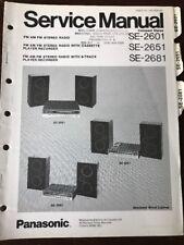 Original Panasonic Technics Model SE-2601 SE-2651  SE-2681 Stereo Service Manual